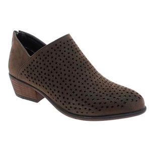 Pierre Dumas Brown Perforated Ankle Boot